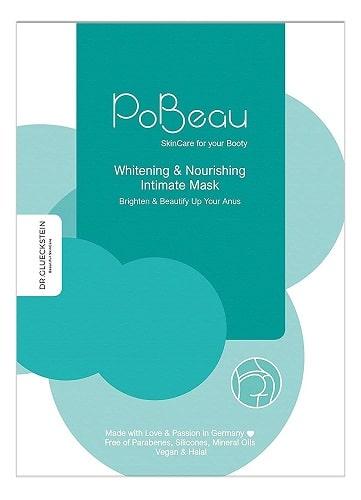 PoBeau Po Maske türkis hellblau Anus Bleaching Effekt Hydratisierung